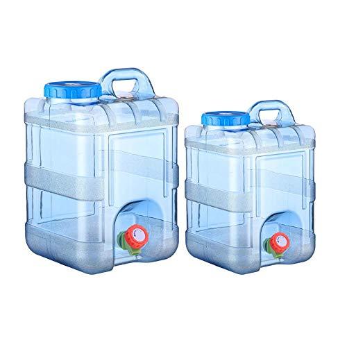 Minear 15L /20L Tragbarer Wasserkanister mit Deckel Zapfen - BPA-frei Kunststoff Auto Wasserbehälter Camping Wassertank für Outdoor Home Reise Notfall Caravans Camping Wandern