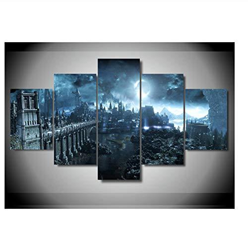 Suuyar Spiel Dark Souls Für Wohnzimmer Moderne Druckplakat Malerei Bilder Wandkunst Dekoration HD Druck auf leinwand-40x60 40x80 40x100 cm Kein Rahmen
