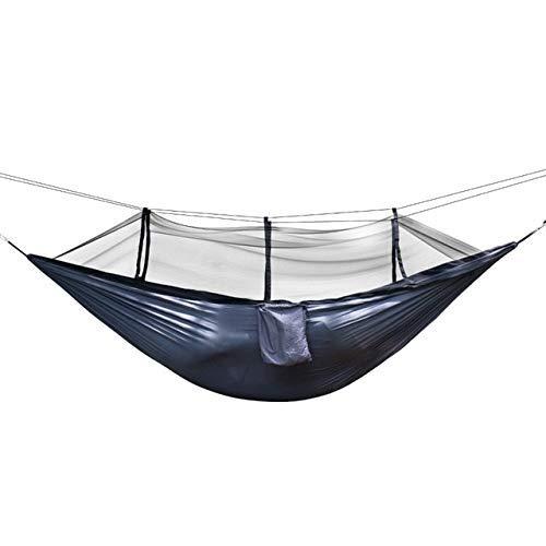 ZXL Hängematte 1-2 Personen tragbare Outdoor-Camping-Hängematte mit Moskitonetz Tuch hängenden Bett Jagd Schlaf Schaukel Russische Föderation dunkelgrau