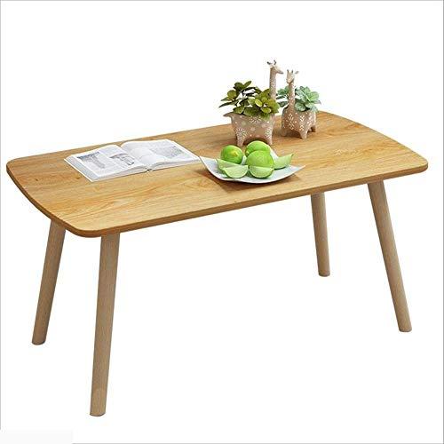 Axdwfd Table d'appoint, table basse en bois massif de style japonais en bois massif Table basse tendance Lazy Lounge Canapé Salon Chambre Snack 2 tailles (taille : D100cm)