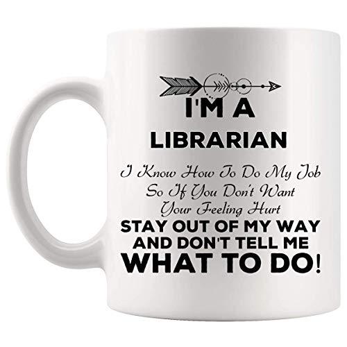 Taza Mug Tazas Contable Archivero de la Biblioteca Escolar 330Ml