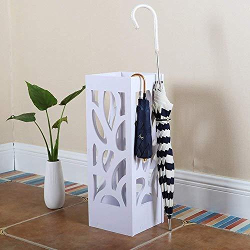 QTQHOME Paragüero Creativo Cuadrado Blanco de Madera Decoración de Oficina Cubo de Almacenamiento Independiente para el hogar (Color:# 2)