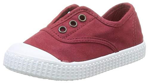 Victoria Zapatillas 06627 - Inglesa Lona Teñida con Puntera, Color Rojo, Talla 19
