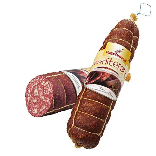 Salami Mediterran mit Walnuss 1,9 Kg - Salami mit aromatischen Walnüssen für den echten Genießer - Geschenkidee WF-10062