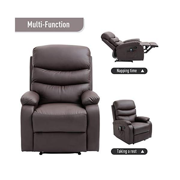 3 views of Manual Massage Recliner