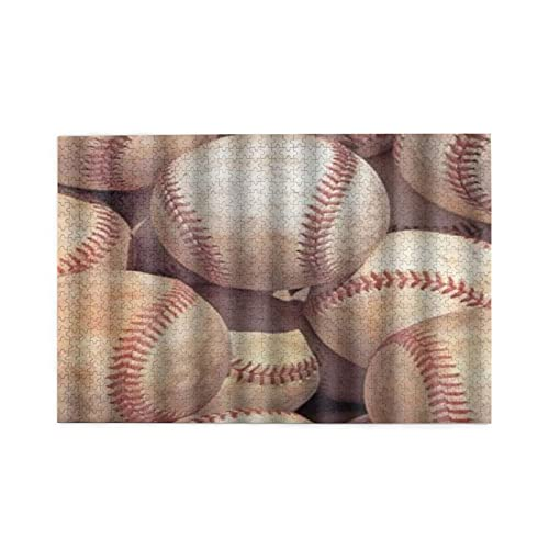Jigsaw Puzzles For Adults 1000 Cute Baseball Theme Print Wooden Puzzle Games Family Fun