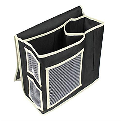 Demarkt Nachttisch-Organizer 3 Taschen Bett Sofa zum Aufhängen Halterung Tasche-Bett-Ablagetasche mit 3 Taschen zum Aufhängen,Tasche Betttasche Bett Sofa Organizer