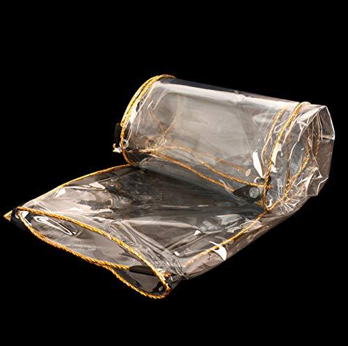 LONGSAND Cubierta impermeable transparente de PVC resistente al polvo a prueba de lluvia lona para plantas, carpa de muebles, coches, invernadero con ojales, 3 x 3 m