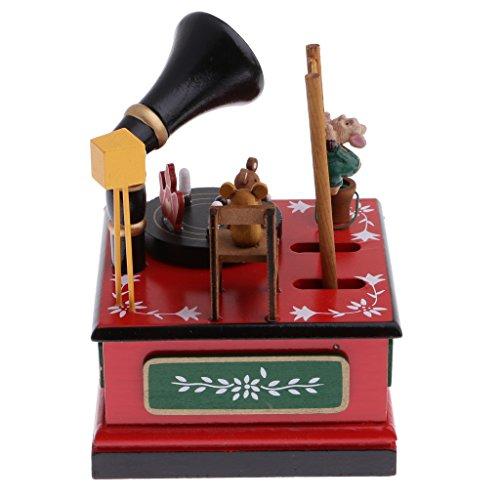 Colcolo Caixa de Música Wind Up Fairyland Decoração de Enfeite de Natal Presente de Madeira