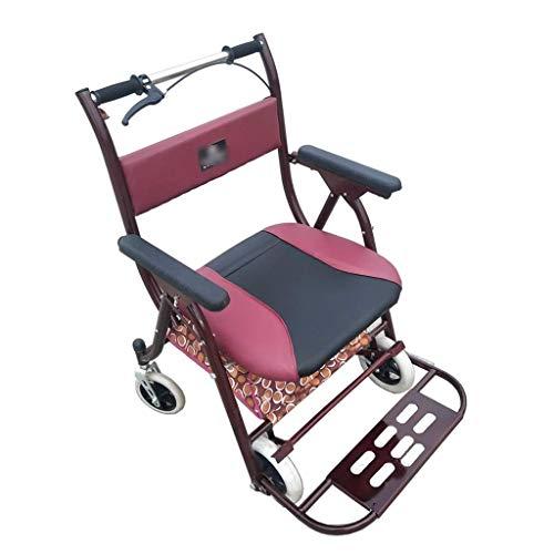 PNYGJZXQ Medical Rolling Walkers Winkelwagen Draagbare Scooter Vouwen Rolstoel Oude Man Crutches Thuis Winkelwagen met Seat Verbreed Plus Gewicht Seat Gift