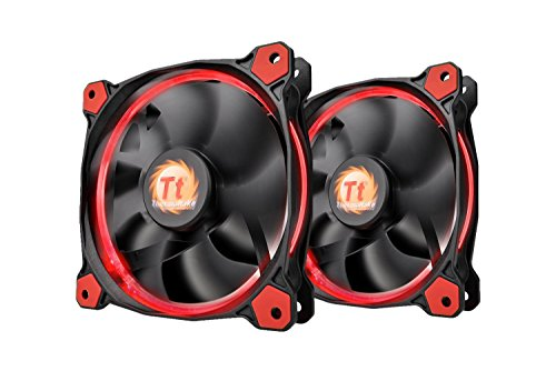 Thermaltake RIING 120mm Red LED Ultra Quiet High Airflow Computer Case...