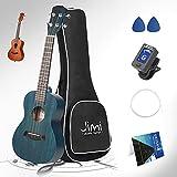 Lizard 21 Inch Soprano Ukulele for Beginners, Kid Guitar Four String Wood Children Ukulele with Gig Bag, Blue (21', Blue)