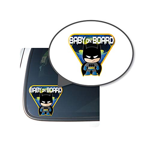 Little Batman Character'Baby, Kid, or Kids on Board' BUYERS CHOICE - Sign Printed Die-cut Vinyl Sticker for Cars/Trucks