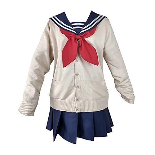luckyid Himiko Toga Cosplay Outfit, My Hero Academia Cosplay Kostüm Mädchen Seemann JK Schuluniform Kleid