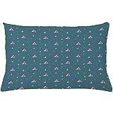 Ducan Lincoln Pillow Case 4 Stück 18X18 Zoll Doodle Dekokissen Kissenbezug,Repetitive Dinosaurier...