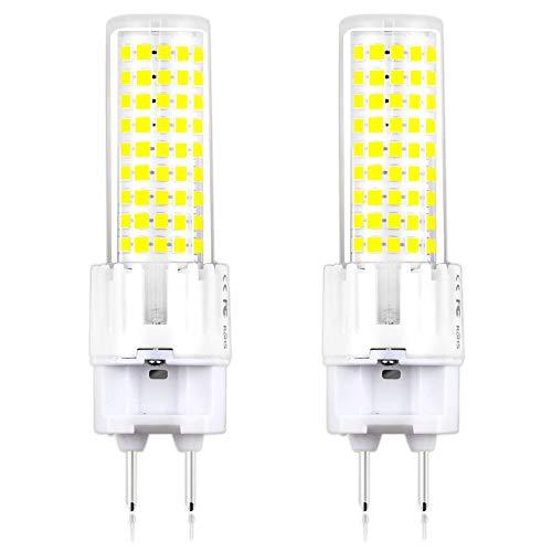 Klarlight LED G12 Bulb 15 Watt Daylight G12 Bi-Pin Base Corn Bulbs, 150W G12 T6 Metal Halide Light Bulb Equivalent, Ceramic G12 Base Light Bulbs