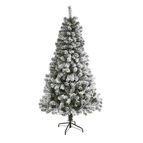 6ft. Flocked West Virginia Fir Artificial Christmas Tree