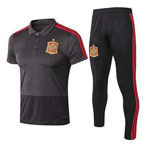 Qinmo España 2020-2021 Club de fútbol, Camisa de Entrenamiento de fútbol Mens Uniform, Desgaste de Deportes, Traje de Entrenamiento, Traje de Competencia (Size : XL)