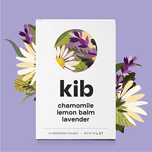 Kib Chamomile, Lavender, Lemon Balm Herbal Tea (Pack of 4, Total 60 Tea Bags)
