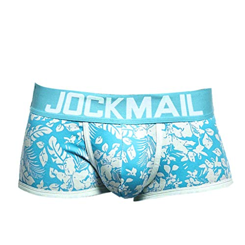 Men's Breathable Microfiber Trunk Underwear Covered Band Multipack,Fancy Print,MmNote Blue