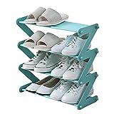 Organizador de zapatos independiente Zapato estante creativo zapato plegable estante pequeño zapato almacenamiento rack rack sala de estar sala de estar dormitorio zapato organizador bastidor 47.5 × 1
