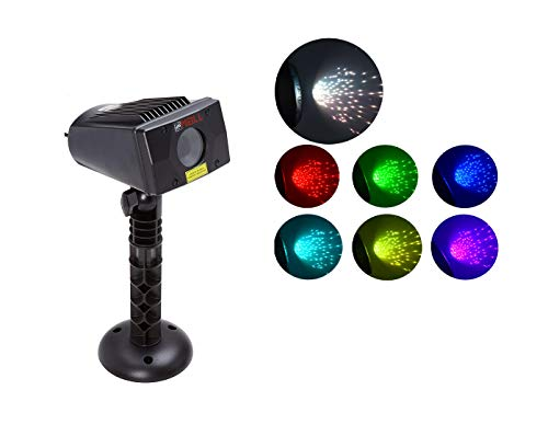 LEDMALL Full Spectrum Motion Star Effects 7 Color White Laser Christmas Lights, and White Laser Decorative Lights with Remote Control