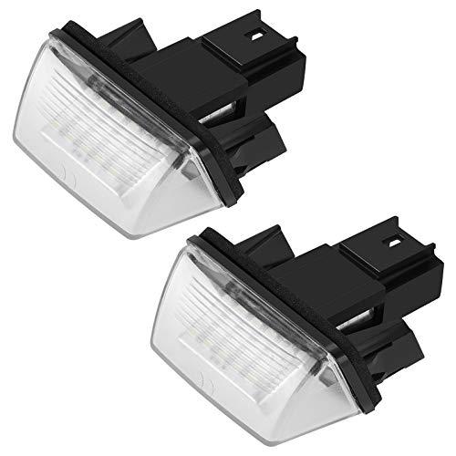 1 paire 12V LED plaque d'immatriculation Lumière de remplacement pour voiture C3-C5 206/207/307/308/406/407 Republe