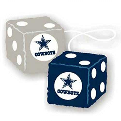 Fremont Die NFL Dallas Cowboys 3' Fuzzy Dice, 3', Team Colors
