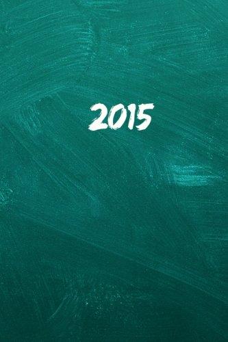 2015: Kalender/Terminplaner: 1 Woche auf 2 Seiten, Format ca. A5, Cover Schultafel