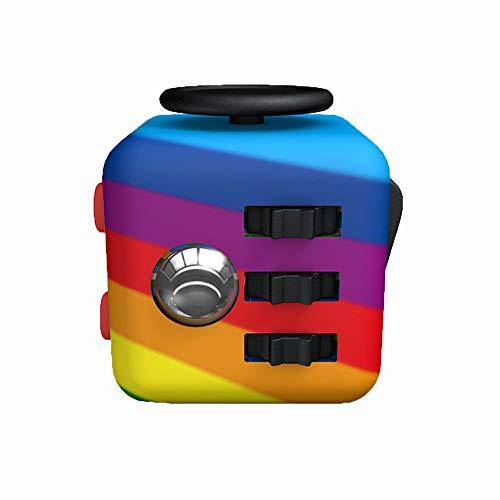 CHUAN YUAN-PHOTO Fidget Cube Erwachsene & Kinder Schreibtisch Spielzeug Anti-Angst Anti-Stress-Würfel Autismus/ADHS Relief Spielzeug Regenbogen-Farben