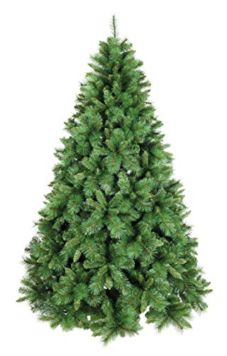 XONE Albero di Natale Pino Mix 180cm, Super Folto e Realistico   Albero Artificiale in PVC+ PP Effetto Aghi di Pino