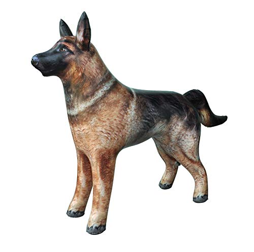 Jet Creations Inflatable German Shepherd Dog K9 Pet Animal 41' Long for Party Decoration Gift Pool Toy Stuffed Animals an-Shepherd
