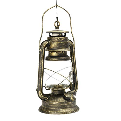 WUYUESUN LED E27 clásico Retro Lámparas de Pared lámpara de keroseno Linterna Aplique Soporte de luz Luz Accesorio de la Pared de Cafetería Balcón Decoración (Lampshade Color : Antique Brass)