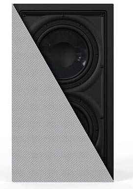 """OSD Black Trimless Dual 8"""" in Wall 300W Home Theater Subwoofer IWDUAL8"""