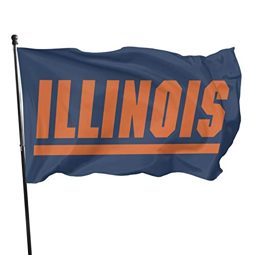 Uiuc U Of I University Of Illinois At Urbana-Champaign Fighting Illini flag vertical double-sided, indoor decoration, seasonal courtyard outdoor small polyester sign double-sided 3x5 FT