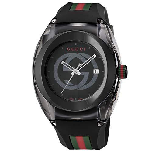 [グッチ]腕時計SYNCYA137107Aメンズ並行輸入品ブラック