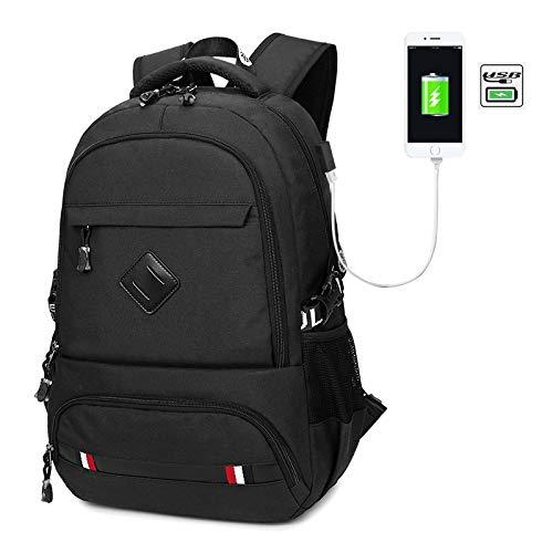 Flybiz Unisex Multiuso Zaino PC Portatili Portatile con Porta USB, Zainetto in Nylon per Uomo Ideale, Zaino per Computer Affari da 15.6 Pollici, Lavoro per Scuola Viaggio/Lavoro/università/Business
