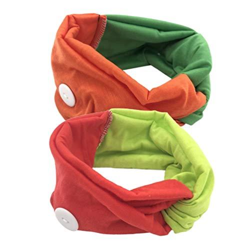 Exceart 2 Stks Hoofdbanden Met Knoppen Gezicht Cover Yoga Headwrap Bandana Oorgrepen Verlenghaken Voor Verpleegkundigen Artsen