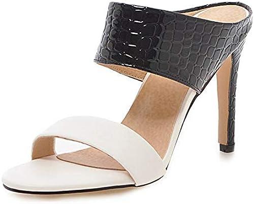 HommesGLTX HommesGLTX Plus La Taille 34-48 De Mules D'été Les Les dames à Talons Hauts Femmes Chaussures Femme Bureau De Partie Pompes Chaussures Femal  100% de contre-garantie authentique