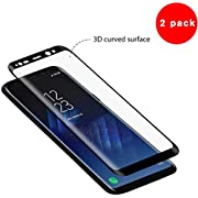 Beatife Samsung Galaxy S8 Plus Screen Protector [2 Pack], S8 Plus Tempered Glass Guard Film Screen Film HD Clear 3D Curved Full Coverage Screen Saver[9H Hardness,Anti-Scratch, Anti-Bubble](NOT S8)