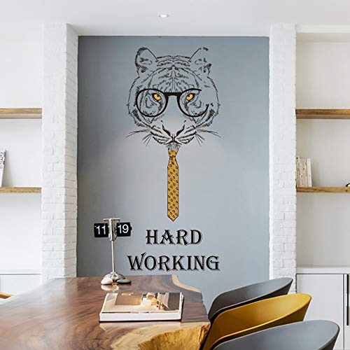 Sticker mural Gentleman Tiger Company Decor Diy amovible pour bureau salle de réunion canapé fond