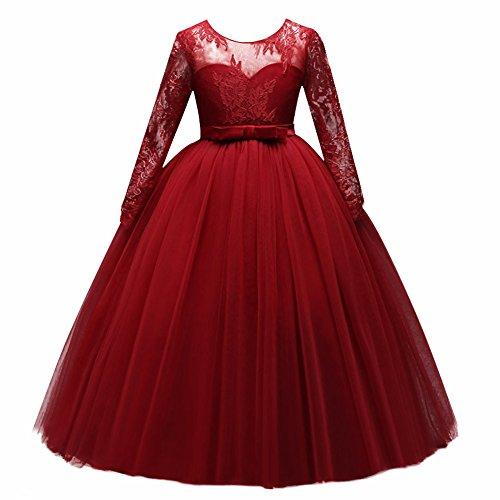 Vestido de niña de Flores para la Boda Princesa Vestidos de Dama De Honor Largo...