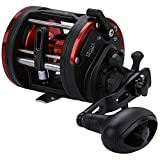 Sougayilang Trolling Fishing Reel, Level Wind Conventional Reel, Graphite Body, Durable Stainless-Steel, Large Line Capacity, Powerful Carbon Disc Drag-Left Hand