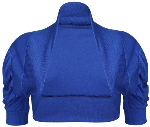 Minx / Bebe Lonia - Boléro Court à Manches 3/4 pour Fille - 13 Ans, Bleu Roi