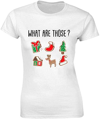 Cosa sono quelli? Bitten Christmas Biscuits T-shirt donna bnft bianco XL