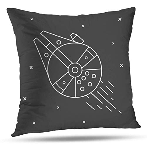 Mr.Q Throw Pillows Boho Cases 24 X 24 Inch Space Star War Ship Technology Future Galaxy Night Fathers Day Throw Pillows Girls Bedroom Teen Ultra Soft for Unisex-Baby Teen-Girls Sofa Chair Girls