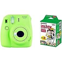 Fujifilm Instax Mini 9 - Cámara instantánea, Cámara con 2x10 películas, Verde