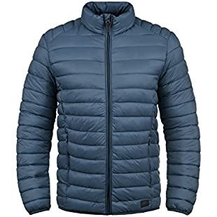 Blend Nils Men's Quilted Jacket Puffer Jacket Padded Jacket with High Neck, SizeM, ColourEnsign Blue (70260)
