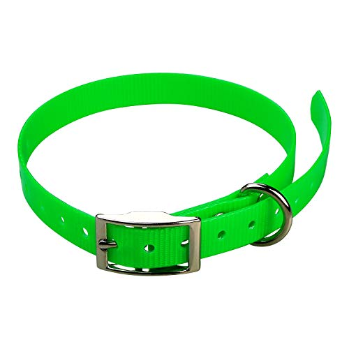 jokidog Sangle pour Collier Garmin Mini T5, Mini TT15-19 mm x 60 cm x 2 mm Vert