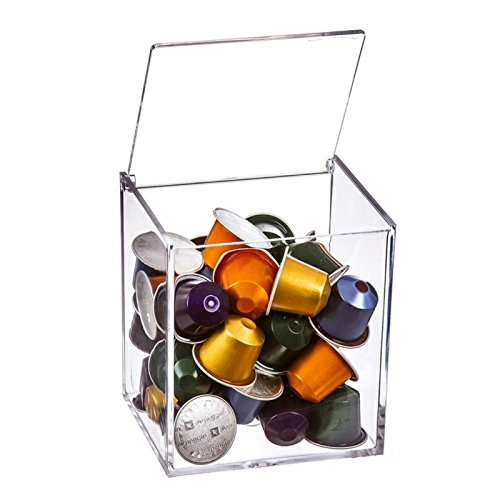 D'CASA - Kapselbehälter aus Plexiglas, für 13 Dolce Gusto-Kapseln oder 40 Nespresso-Kapseln